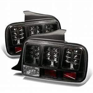 05-09 Ford Mustang Performance LED Tail Lights - Black 111-FM05-LED-BK