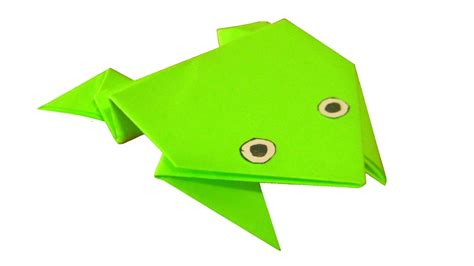 paper jumping frog origami youtube