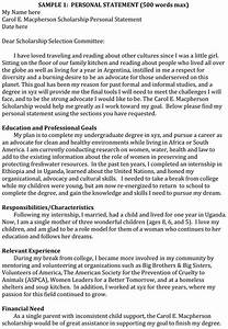 How To Write A Personal Statement For College