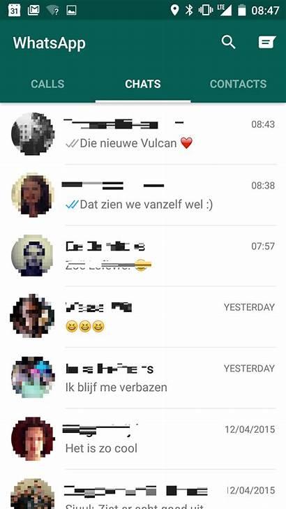 Whatsapp App Uiterlijk Menu Chat Computer Computeridee