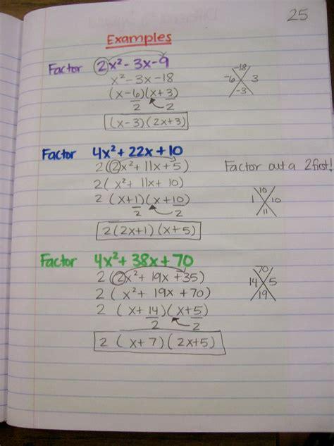 factoring polynomials algebra 1 worksheets free