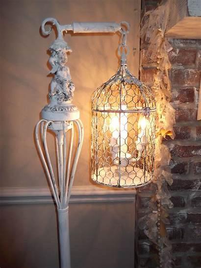 Lamp Chandelier Floor Birdcage Bird Cage Country