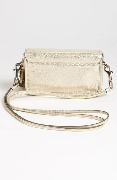 coach legacy penny metallic leather crossbody bag  gold champagne lyst