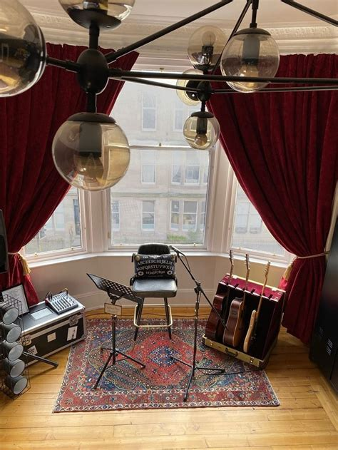 The music stand is your store for music themed gifts, instruments, clothing, decor, jewelry, accessories, and awards. Master bedroom | Music room decor, Music themed rooms, Red velvet curtains