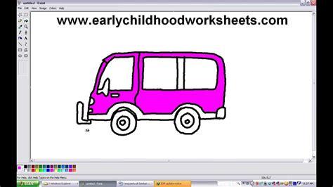 Easy Drawing Van Kindergarte