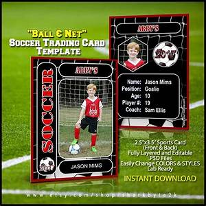 Trading Card Template Photoshop Soccer Sports Trader Card Template For Photoshop Balls And