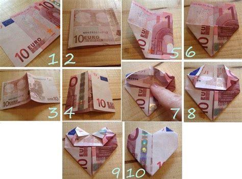 euro geldschein zu einem herzen falten eurogami