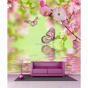 Papier Peint Geant : papier peint g ant papillons et fleurs 11066 stickers ~ Premium-room.com Idées de Décoration