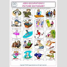 Jobsoccupations Picture Dictionary Word To Learn Unscramble The Words And Write