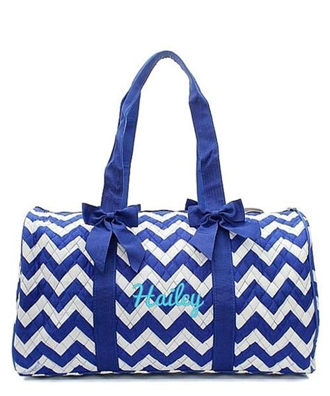 personalized  quilted duffle bag large weekend tote