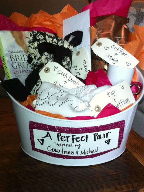 Bridal Shower Gifts by Bridal Shower Gift Pairs Basket All The Gifts