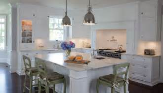 classic htons style white painted kitchen kitchen - Kitchen And Bath Showroom Island