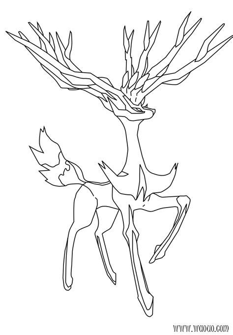 coloriage xerneas pokemon  imprimer