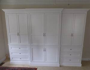 Custom Made Built-In Wardrobe Armoire by J & S Woodworking