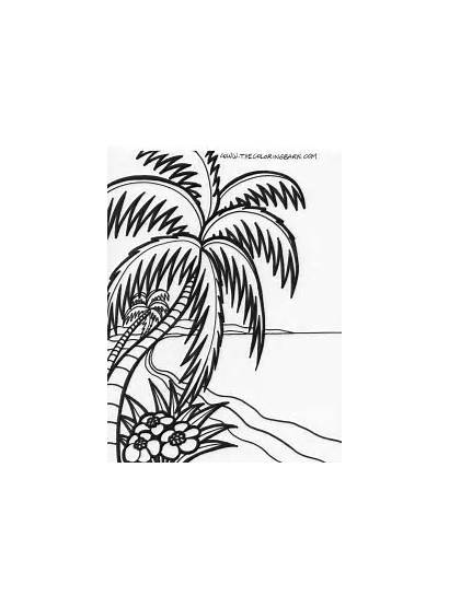 Coloring Pages Sunset Mushroom Reef Coral
