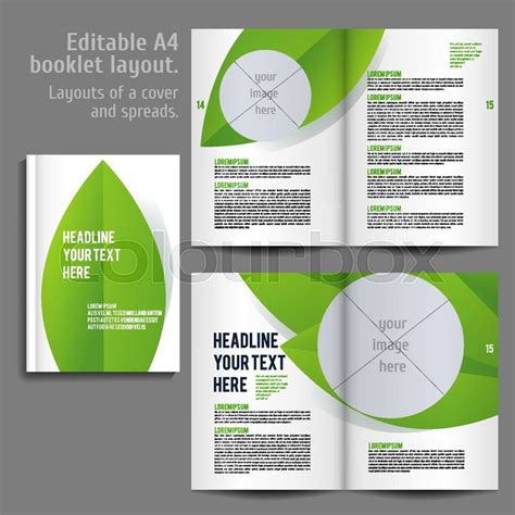 book layout design template  cover   spreads