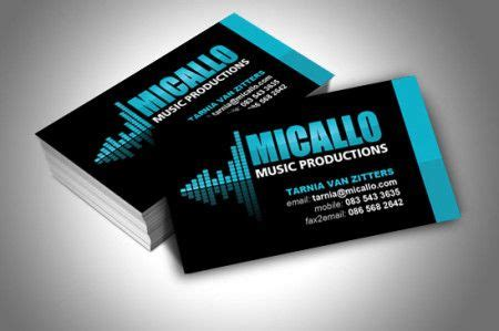 business card design  micallo  productions
