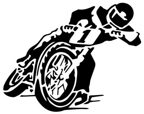 Motorcyclist Speedway Sticker