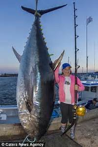 Jenna Gavin's record breaking 431 pound blue fin tuna is ...