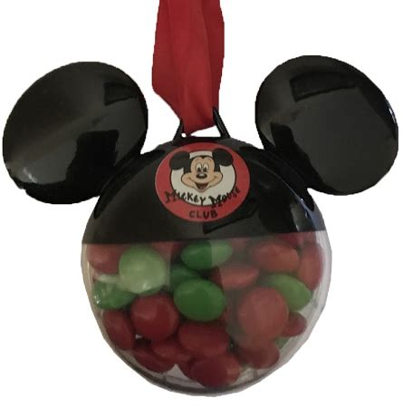 disney christmas ornament mickey mouse club with candies