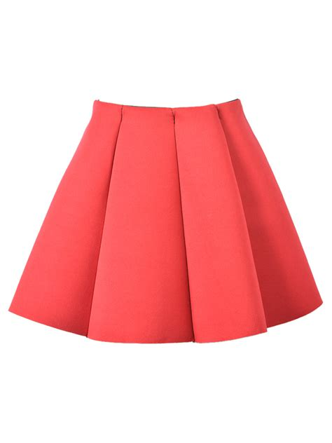 crop tops for structured pleats mini skirt choies