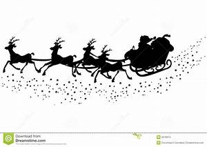 Best Photos of Santa Sleigh And Reindeer Silhouette ...
