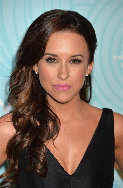 lacey chabert side curly prom hairstyle  long hair