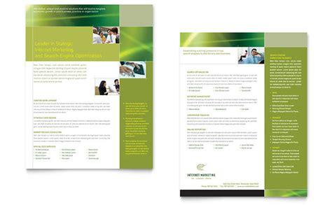 internet marketing datasheet template design