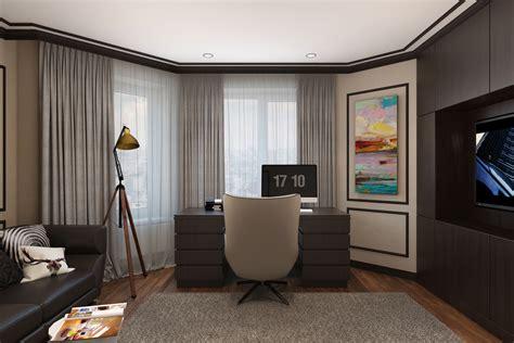 modern classic interior design home office designs  behance