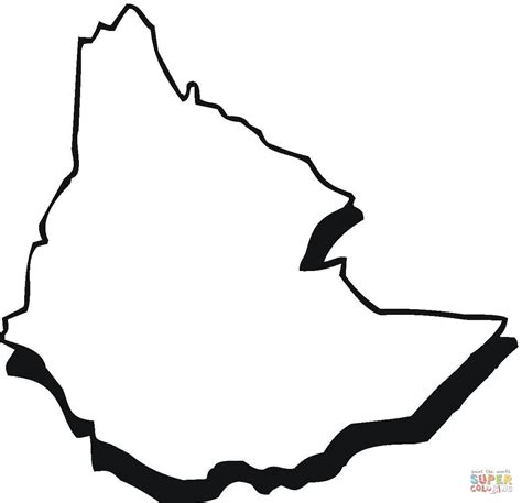 Ethiopia Map Outline Coloring Online | Super Coloring