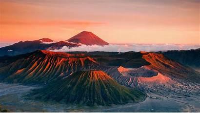 Volcano Indonesia Landscape Bromo Mount Mountains Dusk
