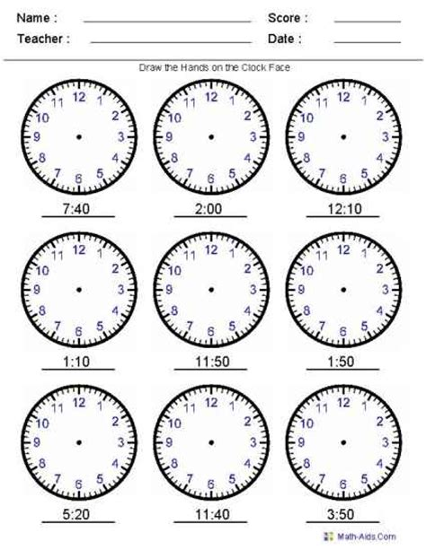 If You Are Having Fun, You Are Learning Telling Time Worksheets  Third Grade Primary Level