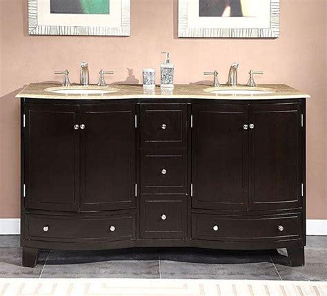 silkroad exclusive 60 inch travertine top bathroom