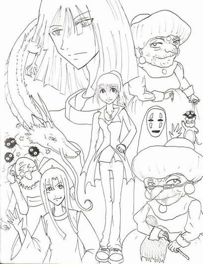 Coloring Ghibli Pages Studio Spirited Away Miyazaki