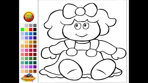 doll coloring pages  kids doll coloring pages youtube