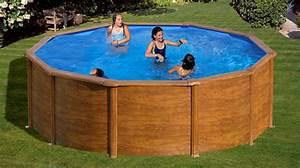 piscine hors sol acier gre pacific rondes et ovales With piscine hors sol acier imitation bois