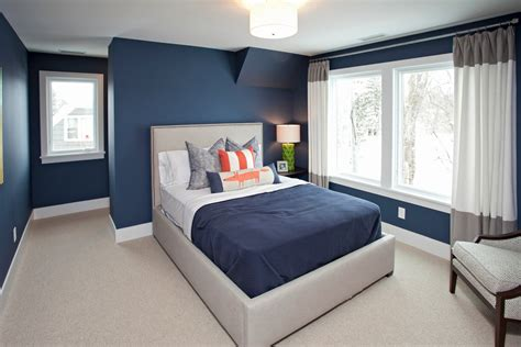 rooms with navy blue curtains traditional with beige
