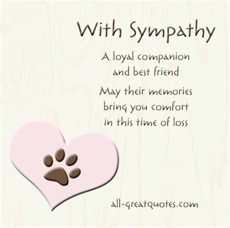 words of comfort for loss of pet free sympathy cards for pets on