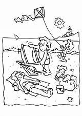 Coloring Beach Pages Printable Beaches Quiet sketch template