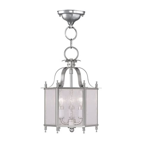 livex lighting livingston brushed nickel mini traditional