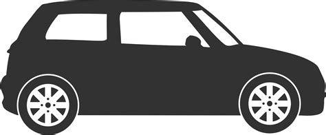 small cars black small hatchback black and white png clipart download