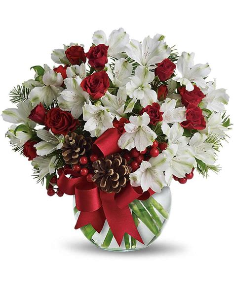 christmas centerpieces delivered usa flowers let it snow flowers delivery flower arrangements