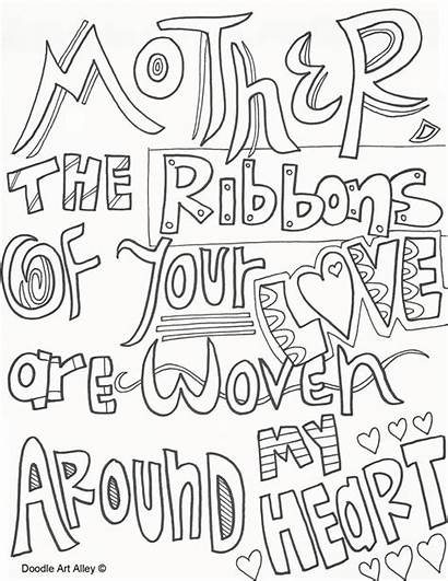 Doodle Alley Coloring Mothers Quote Mother Adult