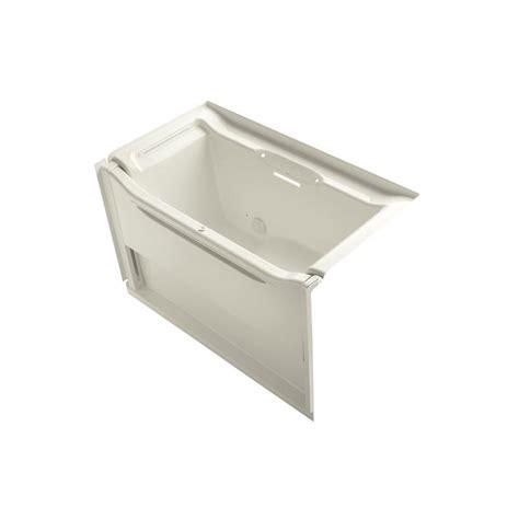kohler villager bathtub biscuit kohler villager 5 ft right drain cast iron bathtub in