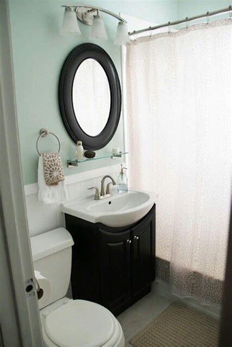 cozy small bathroom  soft color homemydesign