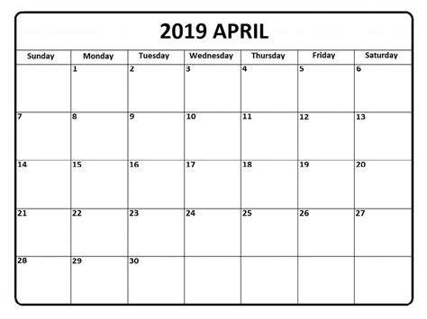 april calendar cute template printable calendar template
