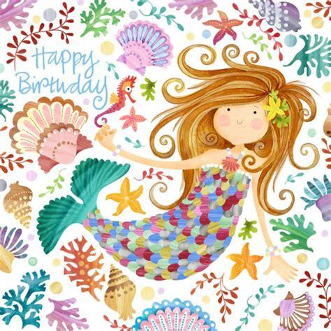 helen rowe mermaidjpg illustrations happy birthday