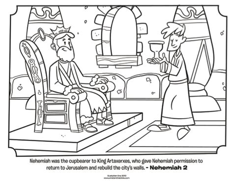 nehemiah bible coloring pages whats   bible