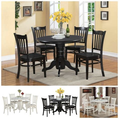 white kitchen set furniture 5 pc black white dining room set furniture dinette kitchen
