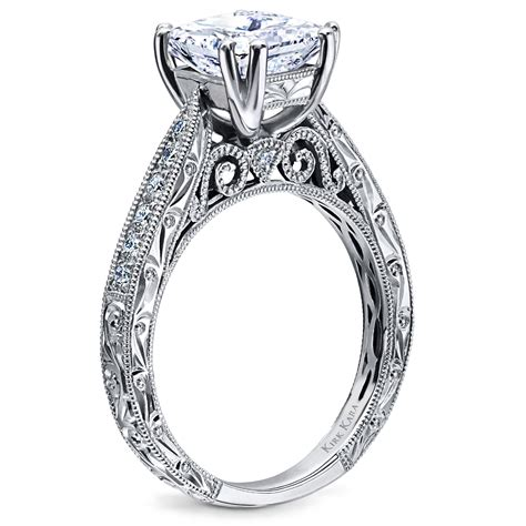 kirk kara hand engraved engagement ring from the stella